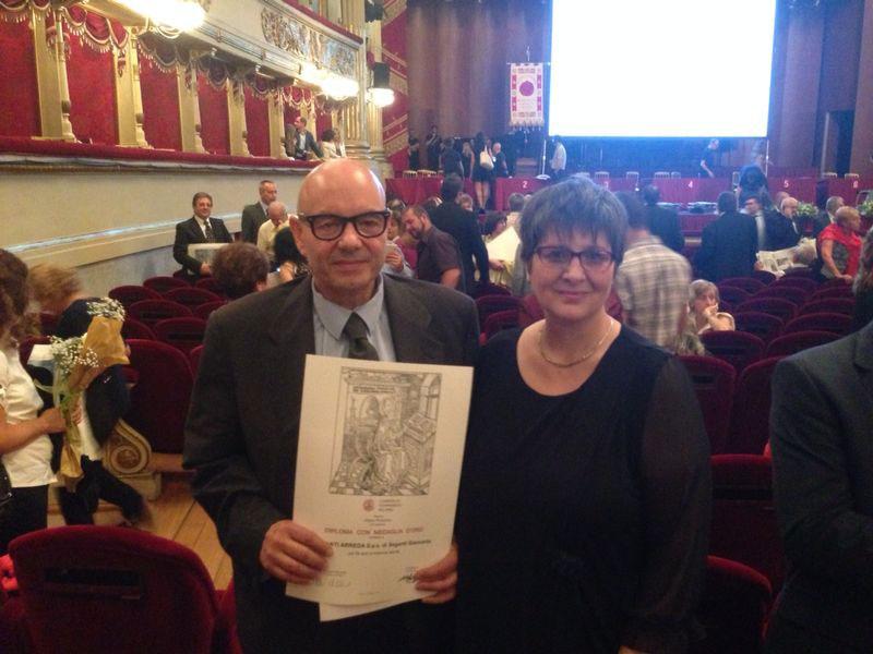 I premi di Seganti Arreda Milano produttiva Camera di Commercio
