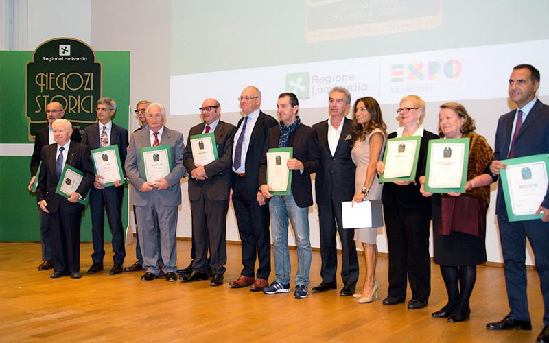 Giancarlo Seganti premiato come Negozio Storico 2015